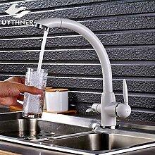 CZOOR Chrom & Weiß fertige Küchenarmatur mit