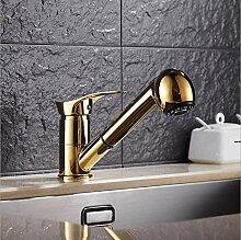 CZOOR Gold Küchenarmatur Messing Wasserhahn