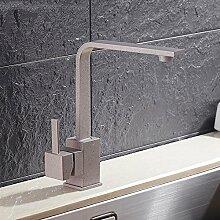 CZOOR Grau mit Dot Spüle Wasserhahn Messing 360 Drehen, Schwenken Küche Waschbecken Wasserhahn einzigen Griff für Küche Mischbatterie