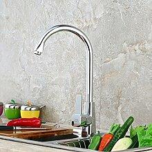 CZOOR Küche einzigen Wasserhahn Küche Waschbecken mit warmen und kalten Edelstahl Hersteller Waschen sauberes Büro Messing Küche Toilette