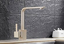 CZOOR Küche Wasserhahn Messing Küche Mischbatterie Küche Spüle Wasserhahn Trinkwasser Wasserhahn Wasser filtern