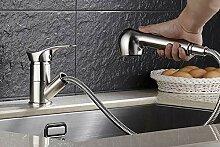 CZOOR Küchenarmatur aus gebürstetem Nickel für