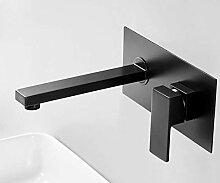 CZOOR Luxus Mattschwarz Bad Wasserhahn Waschbecken