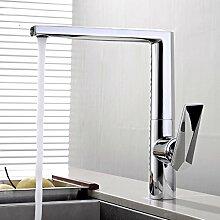 CZOOR Messing Chrom Waschbecken Wasserhahn für
