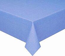 d-c-fix Acryl Soft Meterware Tischdecke 100% Baumwolle Breite & Länge wählbar Blau Eckig 140 x 160 cm Leinenstruktur Lotus Effekt abwaschbare Tischdecke