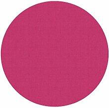 d-c-fix Acryl Soft Meterware Tischdecke 100% Baumwolle RUND OVAL Größe & Farbe wählbar Pink 130 cm Rund abwaschbare Tischdecke