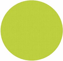 d-c-fix Acryl Soft Meterware Tischdecke 100% Baumwolle RUND OVAL Größe & Farbe wählbar Grün 100 cm Rund abwaschbare Tischdecke