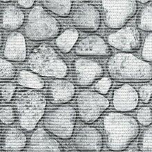 d-c-fix Badvorleger Bodenbelag Breite 65 cm Länge wählbar - Steine Grau - ECKIG 65 x 220 bzw. 220x65 cm für Küche , Bad , Garten ...