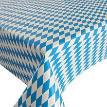 d-c-fix Partytischdecke Lackfolie 100 x 250 cm Farbe wählbar abwaschbare Tischdecke (100 x 250 cm, Bayrische Raute) Party Tischdecke 100x250 cm
