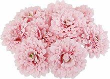 D DOLITY 20pcs Künstliche Blumenköpfe Blüte