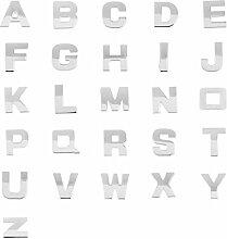 D DOLITY 3D Chrom Auto Aufkleber Klebe Buchstaben