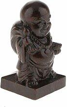 D DOLITY Holz Meditation Mönch Buddha Figuren