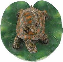 D DOLITY Schildkröte auf Blatt Schwimmtier Grten