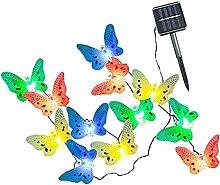 D DOLITY Schmetterling LED Solar Lichterkette mit