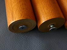 D&I Kirsch LACKIERT Rundfüße Holz Bettfüße