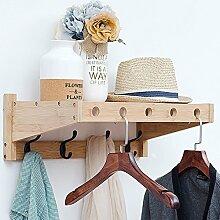 D&L Kleiderhaken Wand-garderobe Massivholz Garderobenständer Haken aufhänger,Kunst Original Moderne-B