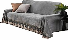 D&LE Plüsch Sofa Überwurf, Vintage Spitze