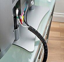 D-Line Kabelkanal cz202.5b Kabel Reißverschluss, schwarz, 20mm