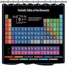 D-M-L Periodensystem der Elemente Duschvorhang