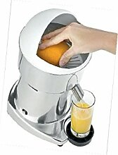 D.O.M. Zitronenpresse Elektro Schale aus Edelstahl