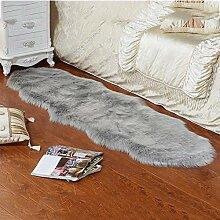 D.ragon Faux Lammfell Teppich einfache plüsch