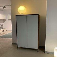 D-TEC   Kommode Mood Nussbaum Türen Glas
