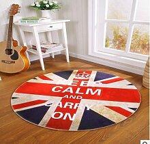 D & X Runder Teppich für das Schlafzimmer, Durchmesser: 60, 80, 100, 120 oder 160cm, grün, für Kinder 100 16