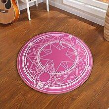 D & X Runder Teppich für das Schlafzimmer, Durchmesser: 60, 80, 100, 120 oder 160cm, grün, für Kinder 100 13