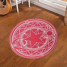 D & X Runder Teppich für das Schlafzimmer, Durchmesser: 60, 80, 100, 120 oder 160cm, grün, für Kinder 100 02