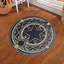 D & X Runder Teppich für das Schlafzimmer, Durchmesser: 60, 80, 100, 120 oder 160cm, grün, für Kinder 100 10