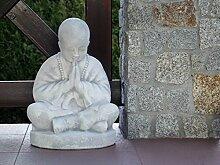 D2206 Buddhistischer Mönch Stein Buddha aus Steinguss, frostfes
