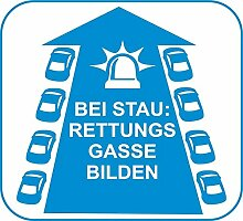 D650 Rettungsgasse - Aufkleber - Helfer - Helfen -