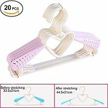 Da Jia Inc 20 Stück mitwachsende ausziehbare Kinder- Baby kleiderbügel- Pink
