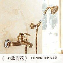 Daadi Antik Messing - Badewanne Dusche Wasserhahn