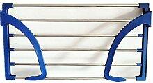 Daadi Edelstahl klappbare Balkon Schuhe Rack Glas