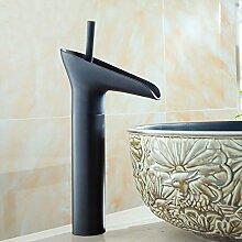 Daadi Küche Badezimmer in schwarzem Glas voll