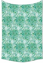 daawqee Turquoise Collection Floral Pattern with