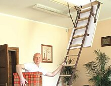 Dachbodentreppe Stahllux 1200 x 700 U-Wert 1,38 W/m²K Bodentreppe