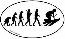 Dachdecker I Dach Bauarbeiter EVOLUTION Aufkleber