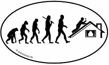 Dachdecker II Dach Bauarbeiter EVOLUTION Aufkleber