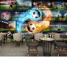 DACHENZI 3D Tapete Für Wände 3D Fußball Flamme