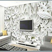 DACHENZI Blattmuster Gips Relief Wandbilder 3D