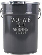 Dachfarbe Dachbeschichtung Wolfgruben Werke (WO-WE) | W510 für Blechdach Dachziegel Dachpfannen Ziegel Dach Farben | TÜV-GEPRÜFT | RAL 6011 ähnl. Resedagruen - 5L