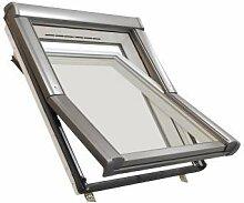 Dachfenster aus Kunststoff Roto mit Eindeckrahmen und Wärmedämmung (74 x 118)