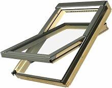 Dachfenster Fakro Schwingfenster 55x98cm Holz mit