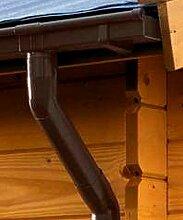 Dachrinne KASTENFORM Rinnensatz Regenrinne 1x600cm Komplett-Set mit wählbaren Farben (Braun)
