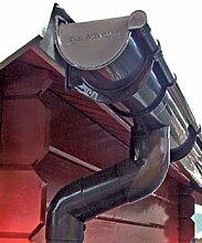 Dachrinne Rinnensatz Regenrinne Braun 2x400cm KOMPLETT