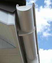 Dachrinne Rinnensatz Regenrinne Weiß 2x500cm