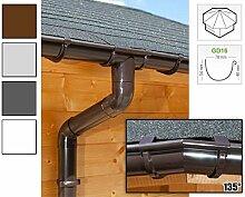 Dachrinnen/ Regenrinnen Set   achteckiges Dach (8 Seiten)   GD16   in anthrazit, weiß, braun oder grau! (Umriss bis 19.25 m (Kompl. Set), Braun)