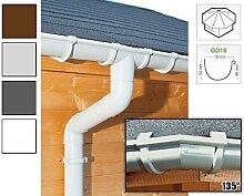 Dachrinnen/ Regenrinnen Set | achteckiges Dach (8 Seiten) | GD16 | in anthrazit, weiß, braun oder grau! (Umriss bis 19.25 m (Kompl. Set), Hell-grau)